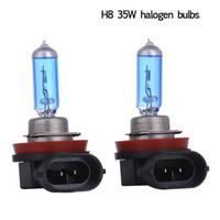 Wholesale 2pcs led car lights exterior h8 w halogen lamp light Auto Led Bulb V lights super white