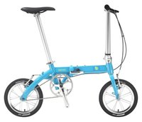 Road Bikes aluminum single speed frame - 14 Smart Super Light Folding Bicycle Aluminum Alloy Hard Frame Double V Brake City Life Single Speed Folding Bike