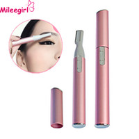 Wholesale Mileegirl Women Electric Eyebrow Trimmer Portable Professional Mini Body Shaver Makeup Accessories Hair Remove Razor For Ladies