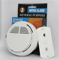 Wholesale Smoke Detector Alarms System Sensor Fire Alarm Detached Wireless Detectors Home Security High Sensitivity Stable LED DB V Battery DC0025