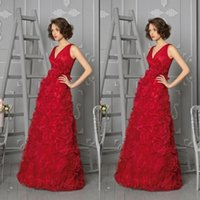 accent ball - Gorgeous Red Ball Gowns V Neck A Line Floor Length Floral Accent Skirt Floor Length Evening Dresses
