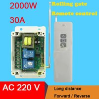 Wholesale 30A Relay Long Range AC V wireless remote control motor long range kit in positive reverse rotation