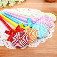 baby shower pens - 24pcs Lollipop ball pen souvenirs birthday party baby shower gift happy birthday decoration kids