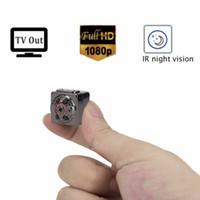 Wholesale 1080P Full HD Spy Mini Camera Infrared Night Vision Hidden Nanny Digital Micro Cam Motion Detection Camcordor Recorder Spycam