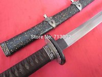 antique forged steel - Hand Forged Japanese Military Samurai Sword Navy Officer Katana Fold Steel Blade Metal Saya