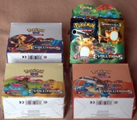Wholesale Newest English Edition Poke mon go XY evolutions cards Trading toy carte Poke go Figures Game Gift For Kids free DHL