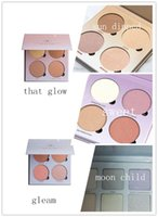 Wholesale High Quality Metallic Powder Bronzers Highlighters Makeup Bronzers Highlighter Glow kit Powder Palette That Glow Gleam Sun Dipped Sweets