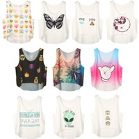 Wholesale styles new cute women s clothes beach crop tops summer camisole camis sexy croped top clothing funny mini tank tops