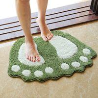 Wholesale Bathroom anti slip mattress bedroom bathroom bathroom toilet mattress big feet absorbent skid mat cartoon carpet