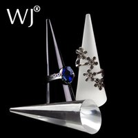 acrylic counter display cases - of Dazzling Clear Acrylic Glass Crystal Cone Ring Jewelry Holder Display Stand Organizer Case for Store Counter