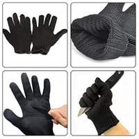Wholesale Pair Of Anti Cutting Gloves Cut Proof Safety Breathable Outdoor Working Gloves Hands Protector Black White Color A252