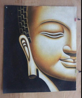 Wholesale Buddha head Pure Handpainted religion Art Oil Painting Wall Deco On High quality Thick Canvas in Multi sizes