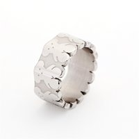 Band Rings african bear - Titanium Steel Ring New Fashion jewelry cartoon tous bear ring jewelry Band Rings