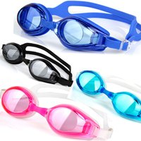 Wholesale The new fashion Unisex electroplating goggles transparent high definition Plain glass swimming goggles men and women universal