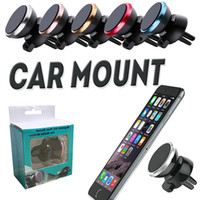 Wholesale Car Mount Air Vent Magnetic Universal Car Mount Phone Holder For iPhone Plus One Step Mounting Reinforced Magnet Easier Safer Driving DHL