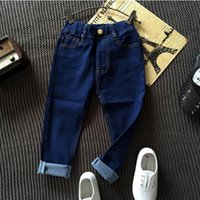 Wholesale Children Pants Boutique Boys Jeans Autumn New Solid Boys Pants Casual Cotton Straight Boys Trousers
