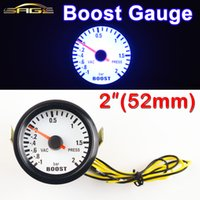 Wholesale Car Gauge quot mm Bar Turbo Boost Gauge Bar Vacuum Press Meter for Auto Blue Light Black Rim Shell V