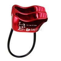 belay device - GM Climbing Equipment KN V grooved Double Slot Belay Outdoor Rock Climbing Rappel Rope Access Belay Device