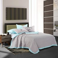 Wholesale New arrival grey quilt set washed microfiber with reactive dying eco freindly fabric good for health