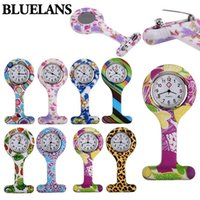 Wholesale Hot Fashion Patterned Silicone Nurses Brooch Tunic Fob Pocket Watch Stainless Dial QNS