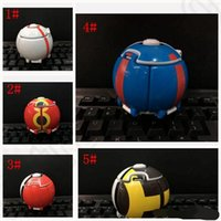 action fighting games - XMAS Poke ball with poke Action Figure Deformation Touch Flip Elf Ball Pop up Elf Go Fighting Poke Ball Explosion Elf with Figures KKA9