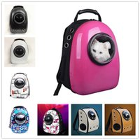 Wholesale 2017 Topselling Space Capsule Shaped Pet Carrier Breathable Pet Backpack PC Pet Dog Outside Travel Bag Portable Bag Cat Bags