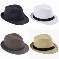 Wholesale Panama Straw Hats Fedora Soft Vogue Men Women Stingy Brim Caps Colors Choose ZDS