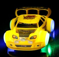Wholesale children s electric racing cars with light music caster toy car Universal wheel colors Hot HHA994