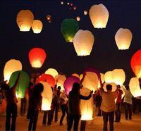 lantern paper - 10pc Wishing Lamp Round Paper Chinese Lanterns Kongming Flying Paper Sky Lanterns For Wedding Bachelorette Party Balloons