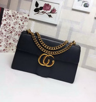 Wholesale Newest Style Famous Brands Women Handbags High Quality Genuine Leather Pattern Chain Shoulder Bags Flap Messenger Bags
