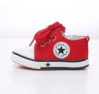 al por mayor niñas comercio exterior-Niños lona casual suave inferior niñas muchachos pequeños zapatos blancos comercio exterior comercio al por mayor