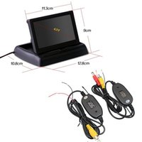 Wholesale 2 G Wireless transmitter receiver For quot TFT LCD Car Reverse Rear View Mirror Monitor Parking assistance