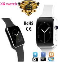 Wholesale Bluetooth Smart Watches X6 Smartwatch Sport Watch For iPhone Android Phones With Camera FM Support SIM TF Card Luxury Wristwatch New