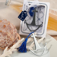 Wholesale Hot Sale Nautical Themed Silver Anchor Beer Bottle Opener Beach Theme Wedding Favors Gift Free DHL