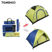 Wholesale TOMSHOO Double Layer Camping Tent Person Double Door Rainproof Tents for Hiking Hunting x150 x115cm
