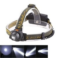 Wholesale 100M Distance Head Lamp or XAAA Battery Lumens LED IR Sensor Headlight Headlamp Lantern Flashlight Outdoor Camping