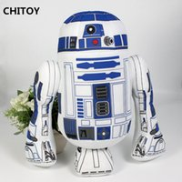 adult baby stuff - Hot sale R2D2 plush Star Wars cm anime ROBOT Printing stuffed toy lovely pillow Cartoon Figures for baby Adult plush toys