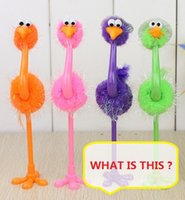 Wholesale Multi Function Pen novelty toys Gags Practical Jokes funny gadgets Magic the Ostrich ballpoint pen Z899