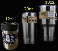 Wholesale YETI OZ Cups Rambler Tumbler Bilayer Stainless Steel Insulation Cup Cars Beer Mug Large Capacity Mug Tumblerful