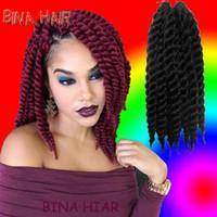afro twist braid - BINA twist braid mambo baby Afro Twist Crochet Hair Synthetic Crochet Braiding burgundy Hair Extension braiding hair colors packs