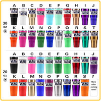 Wholesale Immediately Delivery Colored Yeti Rambler Tumbler Cups White Black Red Pink Orange Green Blue Purple oz oz Yeti Stainless Steel Mugs