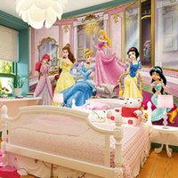 Wholesale The mural wall cartoon figures in the film snow white children room custom background image TV wall non woven factory direct delivery speed