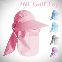 Wholesale Outdoor brand sport golf hiking ShoppingTourism hat topi Ice scarf with cap for women gorra golf Sun UV protect
