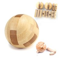 best brain teasers - Intelligence Luban Lock Wooden Brain Teaser Puzzle Educational Toy Magic Ball Your Best Choice