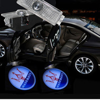 Wholesale Maserati LOGO Car LED logo projector Light ghost shadow light For Maserati Quattroporte Ghibli