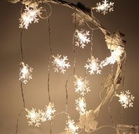 Wholesale Christmas or Holiday Waterproof battery M snowflake Shape Wedding Decorative Color flash LED string with LED little bulb