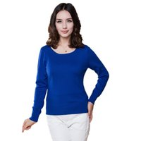 Wholesale Cashmere Sweater Women Sweaters and Pullovers Women Fashion O Neck Solid Color Long sleeve XXL Knitted Sweater