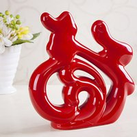Wholesale Creative home accessories living room wine cabinet decorations ceramic crafts Decoration wedding gifts