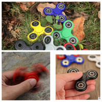 Wholesale HandSpinner Fidget Toy Toy EDC Hand Spinner spiral fingers gyro For decompression anxiety Tri Spinner Fidgets Toy KKA1234