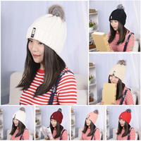 Wholesale Womens Winter Cute Beanie Hat Wool Knitted Crystal Ladies Fashion WC075 W0